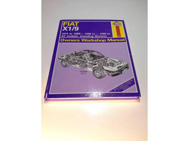 fiat x19 workshop book manual